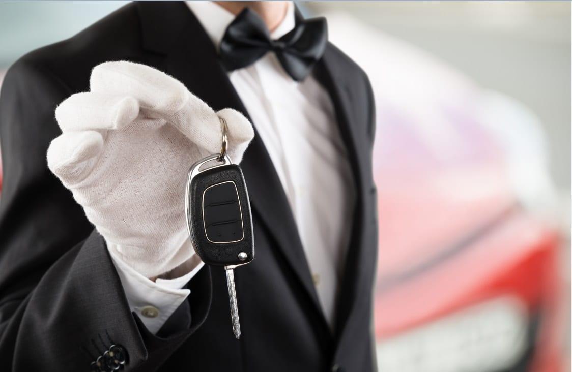 Advertising on valet tickets