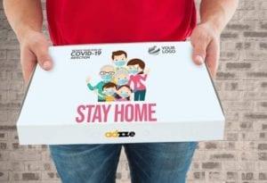 Pizza box advertising