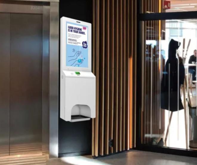 Advertise on Sanitizing Display