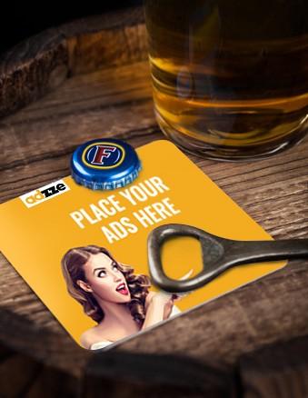 Bar Coaster CBD Ads